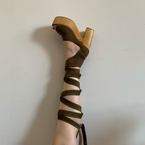 Free People  X Jeffery Campbell suede platforms